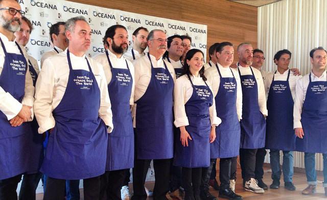 Oceana eta munduko 18 goi mailako sukaldari elkarlanean